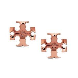 TORY BURCH • Rose Gold Small Kira Earrings